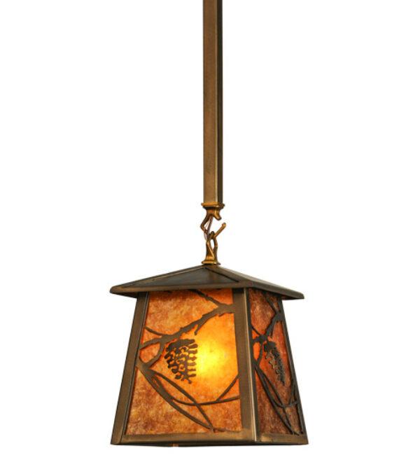 "8676715 | 7"" Square Ida Bell Pines Mini Pendant"