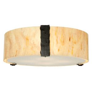 """8676732   24"""" Wide Bistro Drum Flushmount"""