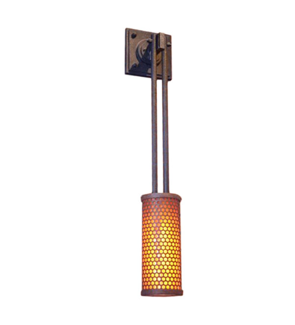 """8676829   9"""" Wide Mesh Wall Sconce"""