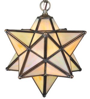 "8675320 | 9"" Wide NorthStar Beige Iridescent Mini Pendant"