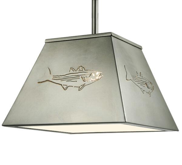 """8677074   15"""" Square Fish Pendant"""