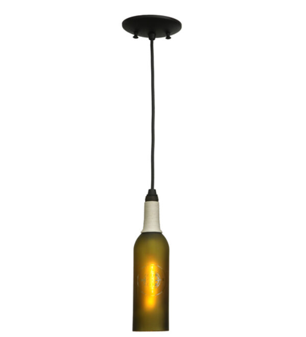 "8677098 | 3"" Wide Nauticus Wine Bottle Mini Pendant"