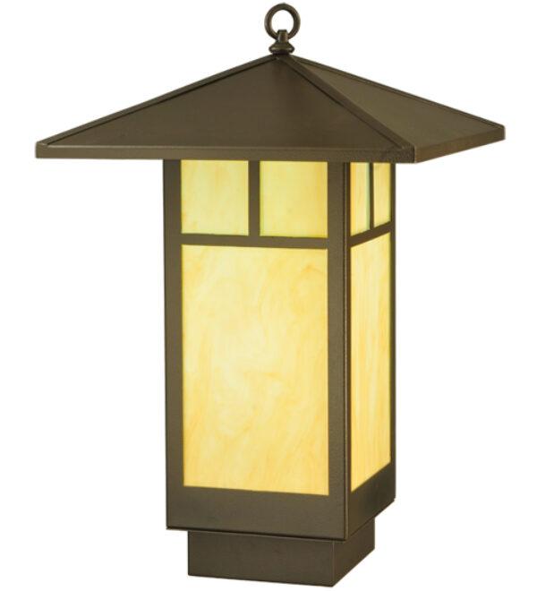 """8677170   16"""" Square WalnutCreek Mission LED Lantern Pendant"""