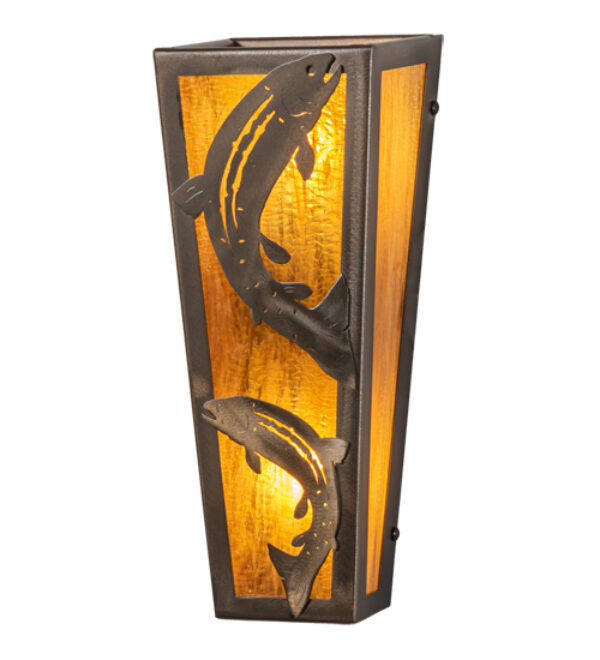 """8677476   5"""" Wide Fish Wall Sconce"""