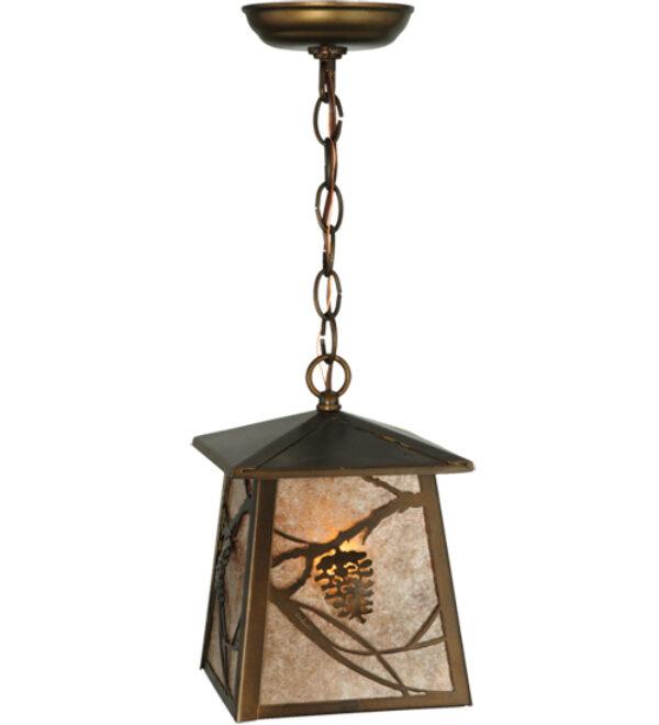 "8677529 | 7"" Square Ida Bell Pines Lantern Pendant"