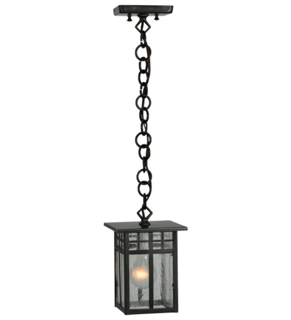 "8677557   6"" Square Obispo Porch Hanging Lantern Mini Pendant"