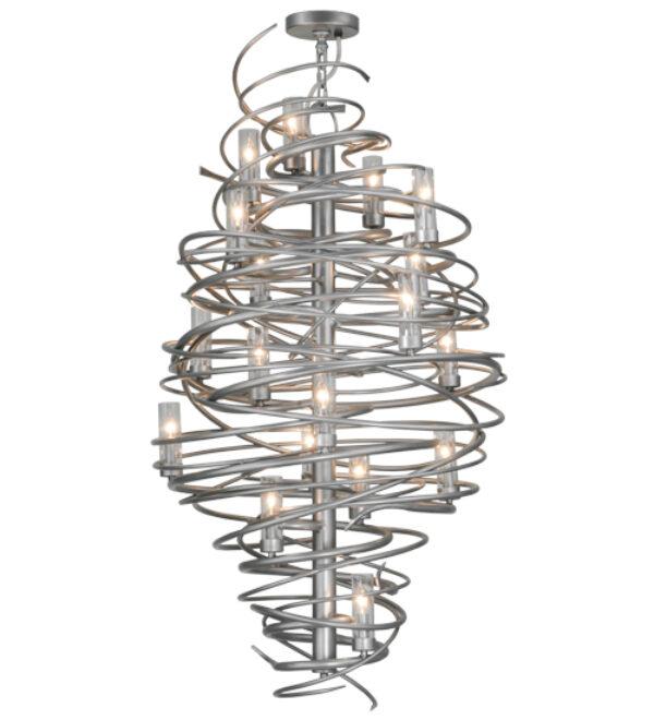 "8677735 | 30"" Wide Twister 18 LT W/Glass Shades Chandelier"