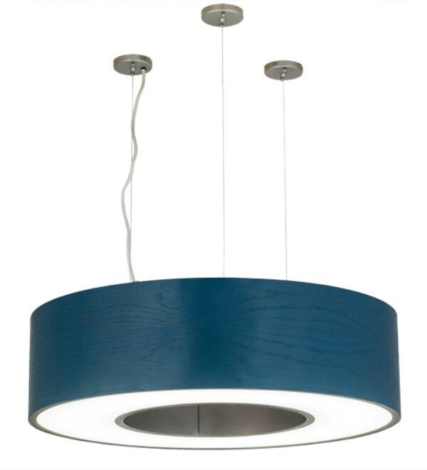 "8678192 | 36"" Wide Blue Ring Drum Pendant"