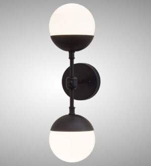 """8678273   6""""W Sphere Wall Sconce"""