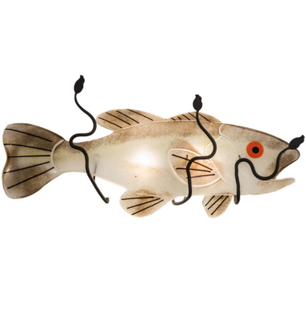"""8678824   22"""" Wide Fish Wall Sconce"""