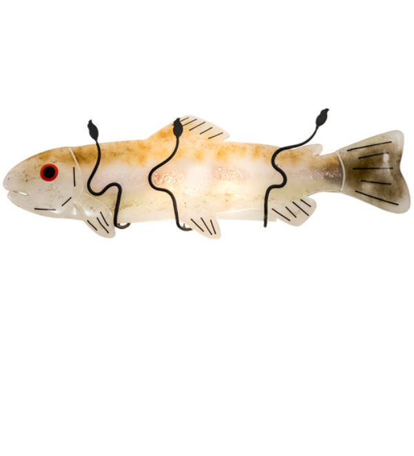 """8678825   29"""" Wide Fish Wall Sconce"""