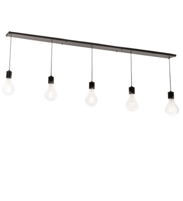 "8678903 | 102"" Long Industrial Chic 5 Light Oblong Pendant"
