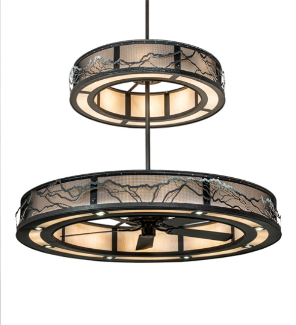 """8678940   72"""" Wide Mesh Mountains Chandelier"""