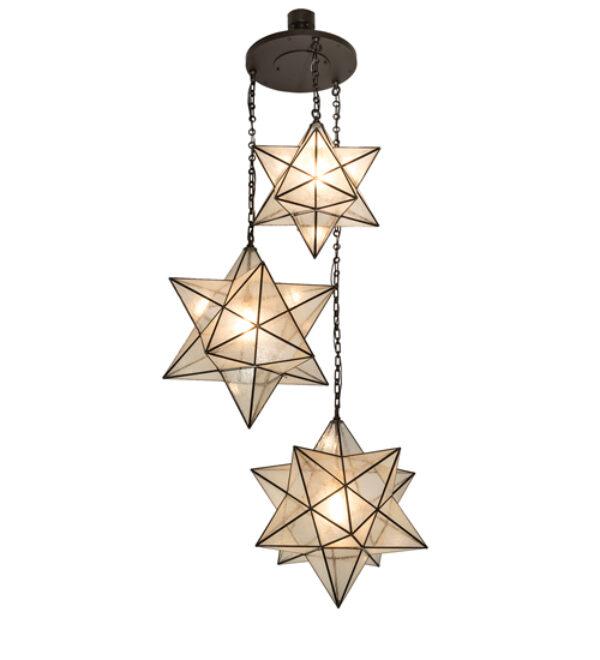 "8678974 | 36"" Wide NorthStar 3 Light Cascading Pendant"