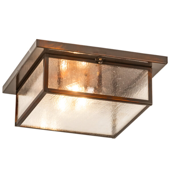 "8676366 | 17"" Square Obispo Porch 3 Light Flushmount"