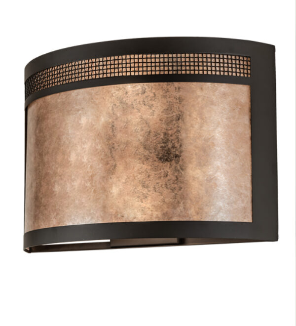 """8679136   18"""" Wide Mesh Wall Sconce"""