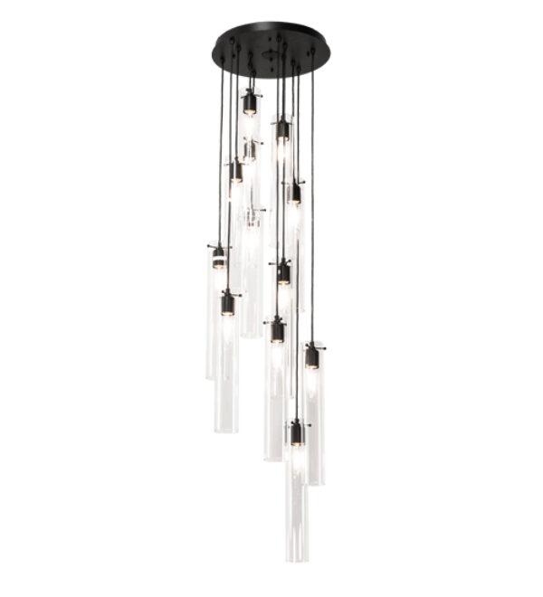 "8679214 | 16"" Wide Cylinder 12 Light Cascading Pendant"