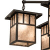 Rustic Chandel-air with Layered Lighting